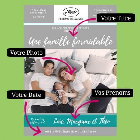 affiche de cinéma famille