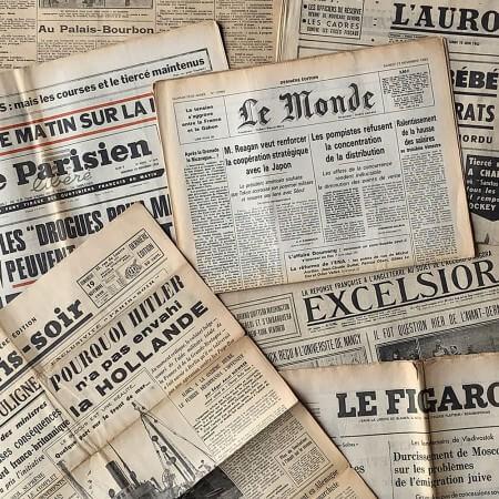 journaux d'époque