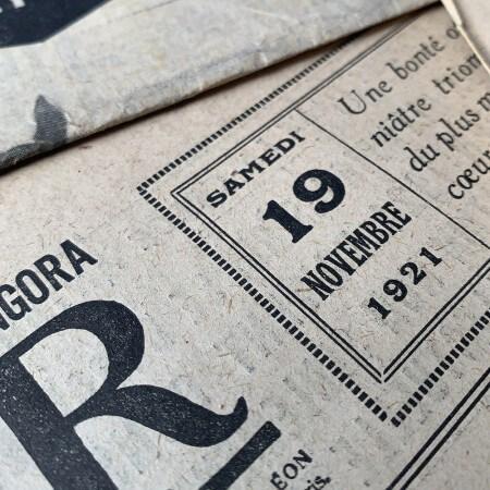 journal authentique des années 20