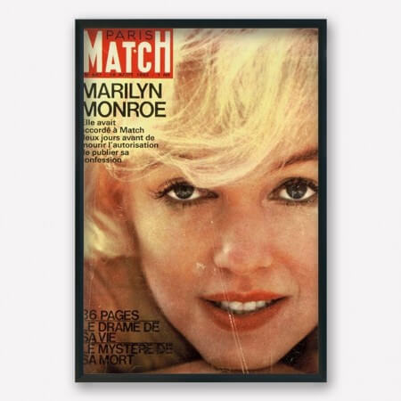 marylin monroe paris match