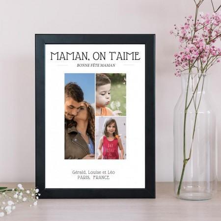 affiche fête des mamans personnalisée